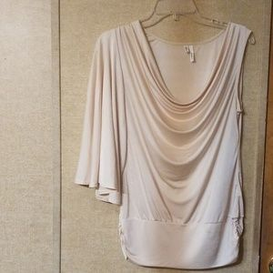 Gold shimmery single sleeve top